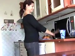 fucking my friends mom while he is at work amateur clip